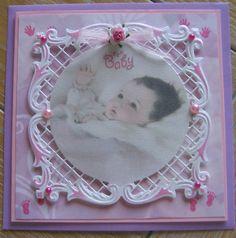 M.K - geboortekaart meisje