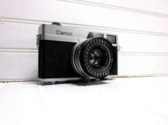 Vintage Camera Canon Canonet 35mm by GoodBonesVintageCo on Etsy, $72.00