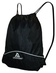 Akadema Black Drawstring Sports Bag - A popular black drawstring style bag that is used by basketball, soccer and football players. The gym sack can also be used as school bag. Sports > Baseball Equipment. Weight: 0.50