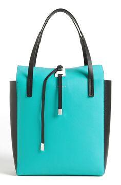Cool aqua bag—'Miranda' color block leather tote❣ Michael Kors