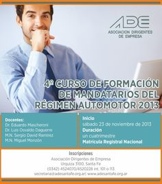 4º Curso de Formación de Mandatarios del Régimen Automotor (2013)