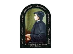 Today, August 28 is the birthday of Saint Elizabeth Ann Seton. The Daughters of Charity in the United States trace their roots in the US back to Saint Elizabeth Ann in Emmitsburg, MD. Catholic Saints, Roman Catholic, Elizabeth Ann Seton, Daughters Of Charity, Heritage Center, August 28, Pray For Us, Power Of Prayer, School Days