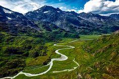 Alaska, River, Water, Aerial View