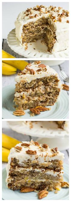Hummingbird Cake- moist, dense and flavored with banana, pineapple, and pecans. My mama's favorite!