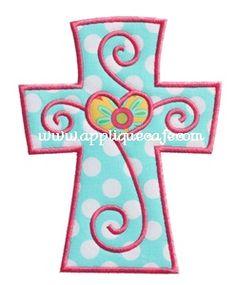 Cross 3 Applique Design