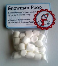 Snowman Poop for naughty children