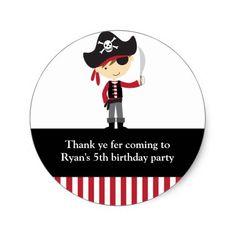Pirate Boy Stickers