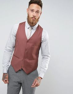 Get this Asos's blazer now! Click for more details. Worldwide shipping. ASOS Wedding Waistcoat In Light Burgundy 100% Wool - Red: Waistcoat by ASOS, Pure wool fabric, Button placket, Contrast back with an adjustable cinch, Regular fit - true to size, Dry clean, 100% Wool, Our model wears 40�/102cm and is 191cm/6'3 tall. With floral prints and pastel tones, our ASOS Wedding collection has a nice ring to it. Impress on the big day in suits, blazers, shirts and accessories that ensure you…