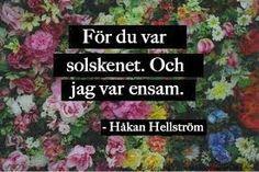 Bildresultat för håkan hellström citat