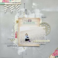 #papercraft #scrapbook #layout. Happy Hour by kasia tomaszewska