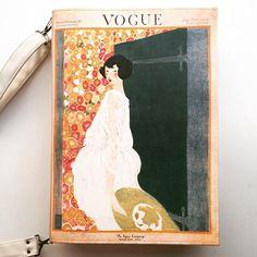 #vintagevouge #bookbag by #krukrustudio #vouge #bookpurse #bookclutch
