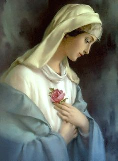 Risultati immagini per Ave Maria Blessed Mother Mary, Divine Mother, Blessed Virgin Mary, Religious Pictures, Religious Icons, Religious Art, Madonna, Queen Of Heaven, Les Religions