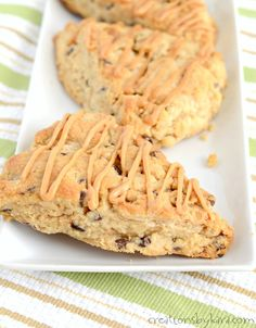 Loaded with peanut butter and chocolate chips, these scones are unbelievably tasty! A perfect scone recipe for peanut butter lovers. Easy and delicious scones.