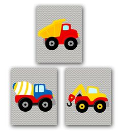 Hey, I found this really awesome Etsy listing at https://www.etsy.com/listing/174394677/things-that-go-construction-trucks-wall