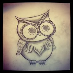 Small Owl Tattoos | little over a year ago i was asked to design a traditional owl tattoo ...