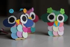 Cutest Toilet Roll Owls  - Perfect, frugal activity; so cute I'll decorate the kids rooms with them! And great for Valentines <3