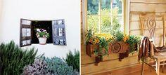 Mesmo no interior da casa, aposte nas flores na janela
