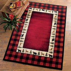 Buffalo Red Rug Collection | 4 of 51 Rustic Home Decor Collection for 2012