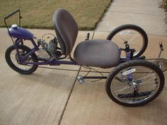 AtomicZombie Bikes, Recumbents, Trikes, Choppers, Ebikes, Velomobiles, and the Great Outdoors: Motorized tadpole trike - Atomic Zombie build...