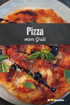 Grilled pizza - Grillen - Crunchy thin, yet juicy. A good pizza quickly becomes a total work of art – and doesn't even nee - Cheap Vegetarian Meals, Clean Eating Vegetarian, Vegetarian Breakfast Recipes, Easy Healthy Recipes, Easy Meals, Pizza Snacks, Rice Recipes For Dinner, Pasta Recipes, Food Videos