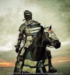 A knight on horseback © Stephen Mulcahey / Arcangel Images