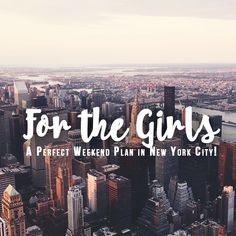 TRAVEL: What does a perfect girls' getaway look like in New York City? Check this article to find out! | via http://iAmAileen.com/girls-perfect-weekend-plan-new-york-city/ #travel #shopping