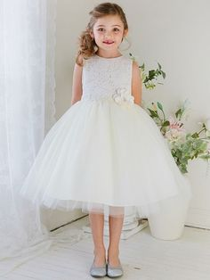 a20980a22e1 Ivory Lace   Tulle Dress. Tulle Flower GirlFlower DressesKids Flower Girl  DressesGirls ...