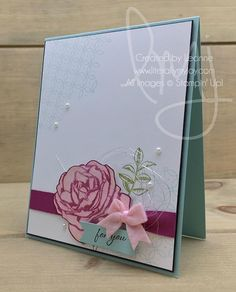 I picked a rose just for you. #gracefulgarden #stampinup #literallymyjoy #papercrafting #cardmaking #stampinupdemonstrator #rose #berryburst #powderpink #pearls #foryou #justbecause #WOS #20172018AnnualCatalog #linkinprofile