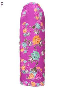 Sarong Batik - Floral Magenta