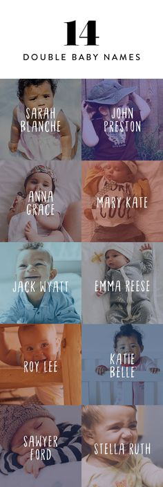 These adorable double baby names are two times as sweet. Including two monikers is a great way to include a family name with something else you had in mind.