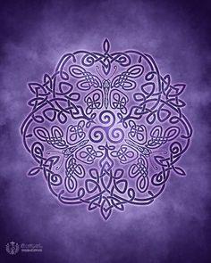 Celtic Butterflies Triskele Knotwork -  Pagan Wiccan Print - Brigid Ashwood
