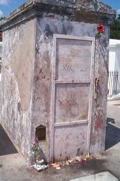 Voodoo Queen of New Orleans Marie Laveau rests here - been here