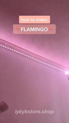 Led Room Lighting, Room Lights, Strip Lighting, Teen Room Decor, Room Ideas Bedroom, Led Light Strips, Led Strip, Pink Led Lights, Cute Room Ideas