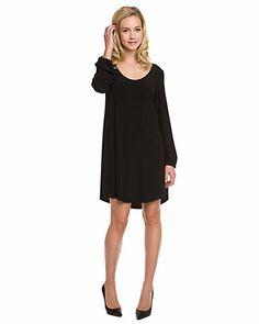 ABS by Allen Schwartz Black Knit Dress