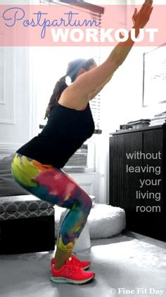 Postpartum Living Room Workout. When you're getting back to exercise and rebuilding fitness & strength after having a baby, it can be tough to get to the gym, or a planned workout. Enter the living room workout! You can do this bodyweight, no-equipment necessary workout whenever you can squeeze it in to your busy day as a mom.