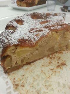 עוגת תפוחים עם גבינה