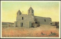 Image detail for -... Pueblo of Isleta Vintage Fred Harvey Postcard - Moodys Collectible Postcards