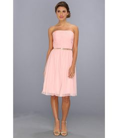A night of romance starts with this timeless Donna Morgan™ dress.. Ethereal silk chiffon dress fla...