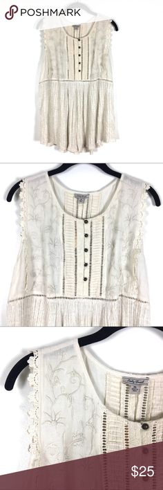 Lucky Brand Top NWT! Cute and casual. This top can be worn with jeans and the right jewelry any day of the week! Lucky Brand Tops Blouses