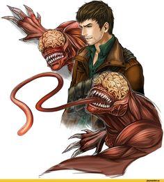 Resident Evil, Games, Resident Evil Damnation, licker, alexander kozachenko, ohse, Game art, game art
