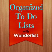 Our Secondhand House: Organized To Do Lists Wunderlist Free app