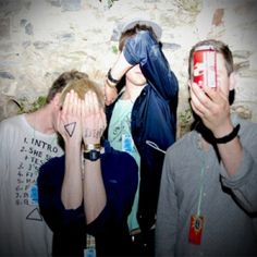 Drinking alcohol and hiding their identity showing they are young and quirky.