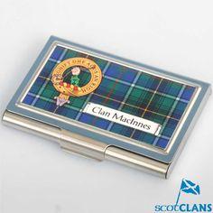 MacInness Clan Crest Business Card Case