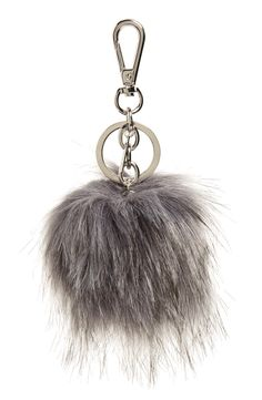Halogen® Faux Fur Pom Bag Charm