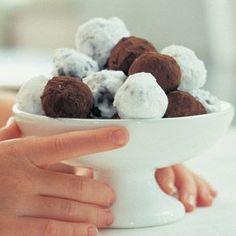 chocolate truffles: EASY