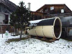 Saunafass von www.sisu-sauna.at Diy Sauna, Indoor Outdoor, Architects, Barrel, Modern, House, Trendy Tree, Barrel Roll, Home