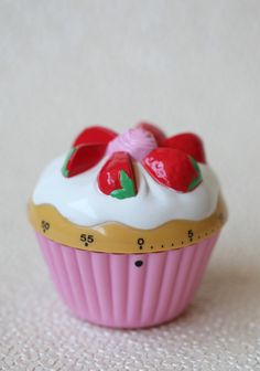 Strawberry Cupcake Kitchen Timer 9.99 at shopruche.com. Bake your favorite treats to perfection with the help of this adorable strawberry cupcake manual timer. Leave it out as a cute kitchen decoration when it