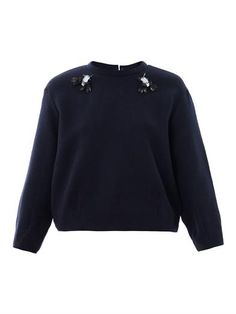 Helier embellished sweatshirt | Mother Of Pearl | MATCHESFASHI...