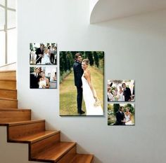 gorgeous 33 Sophisticated Photo Wall Display Ideas You Should Try Now Canvas Wedding Pictures, Wedding Picture Walls, Wedding Canvas, Wedding Wall, Wedding Photos, Canvas Pictures, Photo Wall Collage, Photo Canvas, Photo Collages