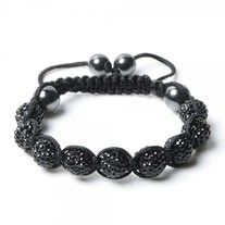 """This adorable """"Shamballa"""" inspired bracelet is a statement piece! It is covered in rhinestones and who doesn't love bling? Easy to tighten around your own wrist.   Black color is associated with strength, authority,  power, elegance    10% of profits will be donated to the Sandy Hook Fund via Family & Youth Organization"""